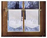 2er Set Scheibenhänger WEIHNACHTSKUGELN Weihnachtsgardine winterliche Landhausdeko