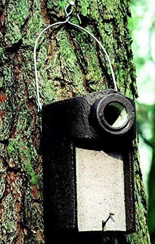 Naturschutzprodukt 2 Star Nistkästen Nisthöhle Starenhöhle Typ 3SV Flugloch Durchmesser 45 mm mit Marderschutz aus Holzbeton Höhe 28 cm Satz 2 Stück