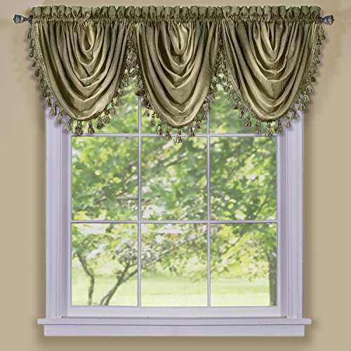 Achim Home Furnishings, Sage Ombre Waterfall Valance