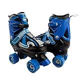 ELIITI Kids Quad Roller Skates for Girls Boys Adjustable Size 10J to 6 (Blue, S...