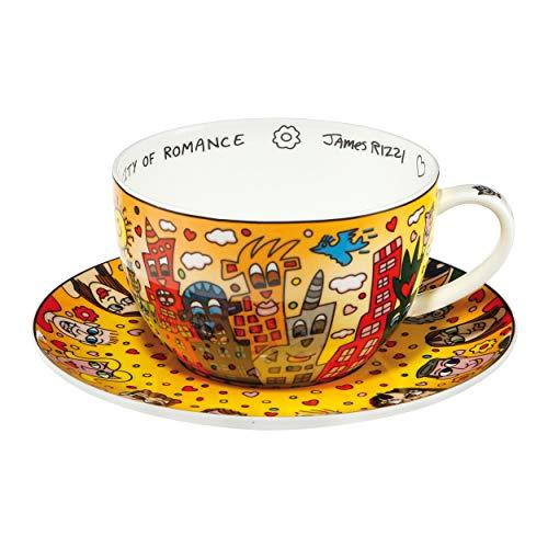 Goebel City of Romance James Rizzi Motiv Teetasse Cappuccinotasse Tasse mit Untertasse