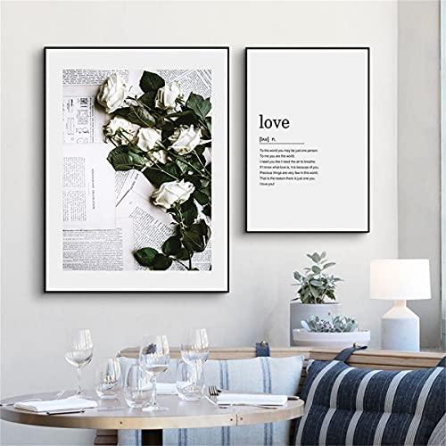 paglutaw Moderna Decoración Para El Hogar Cotizaciones De Amor Arte De La Pared Pintura De Lienzo Póster Nórdico Poster Minimalista Imprimir Imágenes De Pared Decorativas Para Sala De 60x90cm NoFramed