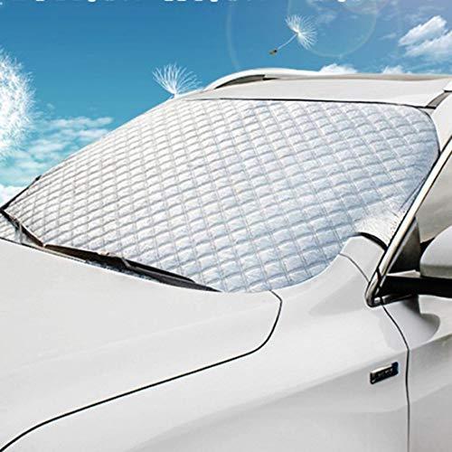 Wolfberrymetal Parabrisas Delantero de automóvil, Visera a Prueba de Nieve y Helada de Invierno para automóvil Profesional, Visera a Prueba de Nieve, Accesorios Esenciales para sombrilla