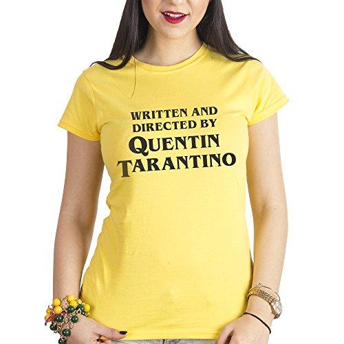 MUSH Eighteen Clothing T-Shirt M Donna Shirt Titolo di Coda REGIA Quentin Tarantino by