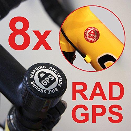 Sicherheit Nord 8X Rad GPS Inside Aufkleber Fahrrad SICHERUNG BIKEFINDER Tracker Bike Secure RENNRAD MTB Bicycle Tracker DIEBSTAHLSICHERUNG Anti Theft Warning Sticker Set