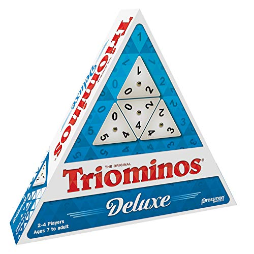 Pressman TriOminos  Deluxe Edition Triangular Tiles with Brass Spinners