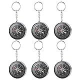 Toyvian Compass Keychain - Packung mit 12, Silber Taschenanhänger - Handtaschenschmuck,...