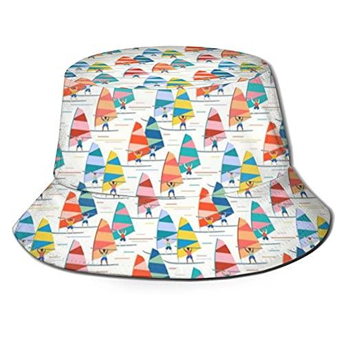 Yearinspace Unise Sombrero Verano Viaje Cubo Playa Sol Sombrero Playa Sol Protección Adultos Sombreros Juventud Sol Sombreros Gorra Windsurf Escala Media Blanco