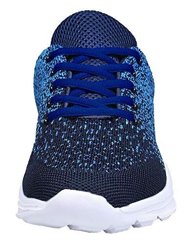KOUDYEN Zapatillas Deportivas de Mujer Hombre Running Zapatos para Correr Gimnasio Calzado Unisex (EU39, Azul)