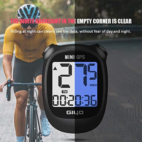 Poxcap Mini GPS Bike Computer Cuentakilómetros inalámbrico Velocímetro IPX6 Sensor de cadencia...