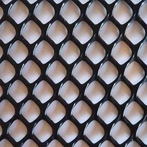 Poultry Fence Plastic Rabbit Fencing Plastic Bird Barrier Net Mesh Netting Garden Plant Netting Fencing for Agriculture (0.4mx4m, Black)