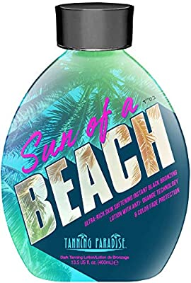 Tanning Paradise Sun of a Beach Instant Black Bronzing | Vitamin Rich Tanning Lotion 13.5oz