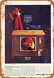 Carteles de advertencia de metal de 20,3 x 30,5 cm, 1963 General Electric Color Televisión clásico Look Reproducción Metal Cartel de Metal Señal Decoración de Pared cochera Tienda Bar Sala de...