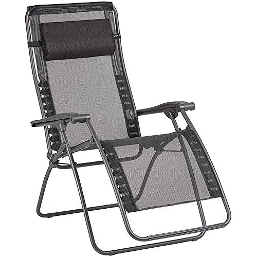 Lafuma Relax-Liegestuhl, Klappbar und verstellbar, RSXA Clip, Batyline, Farbe: Noir, LFM2035-8551