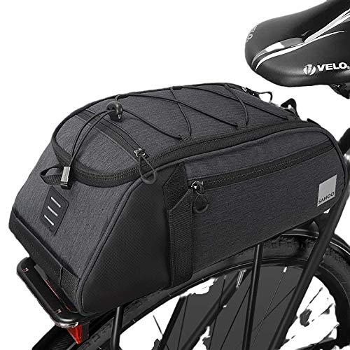 Roswheel Fahrradtasche, Gepäckträgertasche Fahrrad,Hintsitz Trunk Bag,Satteltasche mit Abnehmbar Schultergurt und Reflektierendes Schild Fahrradgepäckträgertaschen