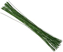 KCHEX Green Crafting Floral Stem Wire 14 Inch 18 Gauge 200 Counts