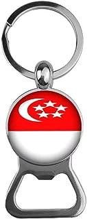 Beautiful beautiful girl Singapore Flag Bottle Opener, Dome Glass Bottle Opener, Creative Flag Bottle Opener, Personalized Flag Jewelry