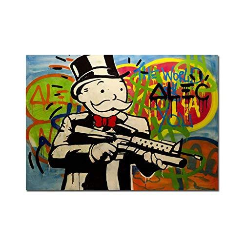 wzgsffs Cartel en Color Creación Original Pinturas de Graffiti en Lienzo Arte Decorativo Imágenes de Pared Decoración para el hogar-50X70cm