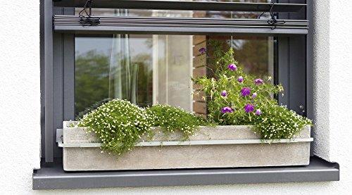 HT Blumenkastenhalterung Fenster Blumenkastenhalter verstellbar Aluminium Druckguss