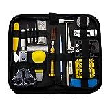 Amuzocity Kit de Reparación de Relojes, Kit de Herramientas de Reemplazo de Batería/Removedor de Enlaces