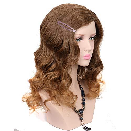 Yuehong Medium Brown Wig Kinky Curly Cosplay Harajuku Wigs For Women Synthetic Hair Wig