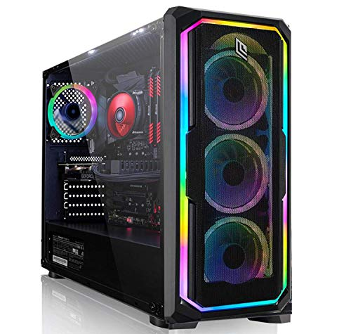 CEO-Tech Omega V9.1 PC Gaming - CPU Intel I9-9900K 5.00 GHz Octa Core 16MB | RAM 32GB DDR4 | SSD 1000GB | RX 5500 XT 8GB Challenger ITX | Ultra HD 4K | 800W | Wi-Fi | Windows 10 Pro