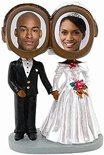 Neil Enterprises, Inc Wedding Couple Photo Bobble Heads - Dark Skin Tone