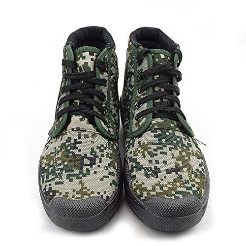 KIBILLL Training Schuhe hoch, um digitale Tarnung Befreiung Schuhe Leinwand Schuhe Befreiung Schuhe militärische Ausbildung Arbeit Versicherung Arbeitsschuhe zu helfen (Farbe : Lin, Size : 44)