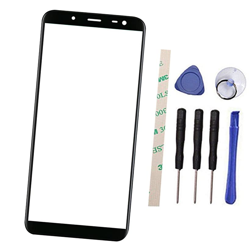 Draxlgon Outer Screen Front Glass Lens Replacement for Galaxy J6 2018 / Galaxy On6 J600 J600L J600N J600G/DS J600F/DS 5.6
