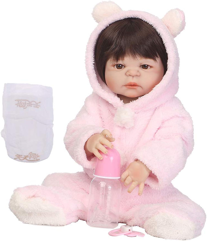 Fenteer Vinyl Reborn Girl Dolls Handmade Lifelike Toddler Doll 57cm 22 Inch Girl Baby Doll