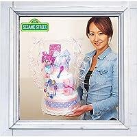 3段おむつケーキ「セサミストリート・アビィー」【出産祝い】【パンパース使用】-M