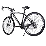 Kiyotoo 700c Road Bike City Commuter Bicycle with 21 Speeds Drivetrain, Mens/Womens Hybrid Road...