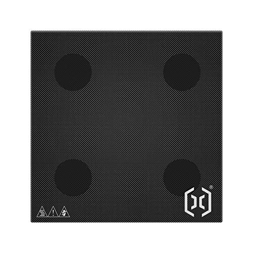 KTOO Impresora 3D de artillería, plataforma de cama de vidrio, superficie de construcción de cama de impresión de cristal de silicio de carbono, 230x230mm para impresora Genius 3D Cama climatizada