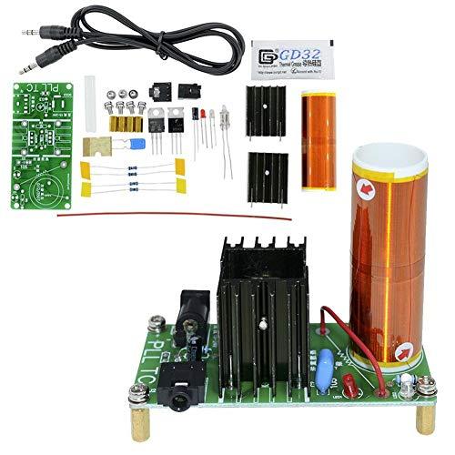 MaxLab 15W Mini Musik Tesla Spule Coil Plasma-Lautsprecher Tesla Arc Generator Drahtlose Übertragung DC 15V-24V