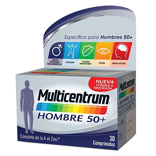 Multicentrum Hombre 50+, Complemento Alimenticio con 13 Vitaminas y 11 Minerales, para Hombres a partir de los 50 años - 30 Comprimidos