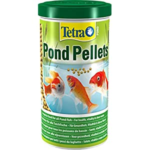 Tetra Pond Pellets, Complete Fish Food for All Pond Fish, 1 Litre