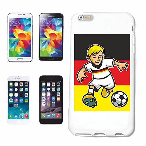 Reifen-Markt Hard Cover - Funda para teléfono móvil Compatible con Apple iPhone 6+ Plus Futbolista FÚTBOL Alemania Alemania CAMPEÓN del Mundo Europeo CAMPEÓN Franc