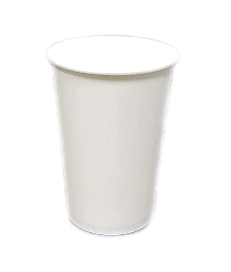 [1000 COUNT] Single Wall 16oz Disposable Hot White Paper Cups - Elegant White cup for Hot Drinks Water Coffee Tea Cocoa Cafe Cappuccino Espresso latte hot chocolate steamer (1000)