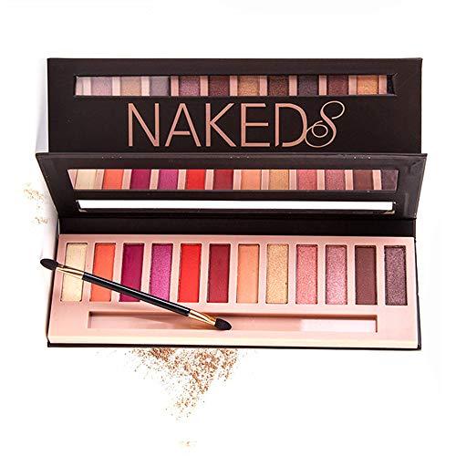 Lidschatten-Palette Profi-Augenpalette mit 12 Farben Nude Bronze Schimmer Smokey Eyeshadow Makeup Lidschattenpinsel Matt Naked Lidschatten-Palette (Meerjungfrau)