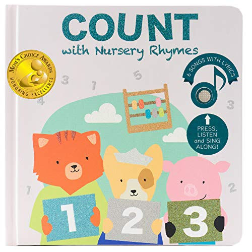 Cali's Books Count Nursery Rhymes - Musical Book. Educational Interactive Toy for Toddlers 1-3 and 2-4. Counting and Numbers Songs for Learning Through Play (2nd Edition)