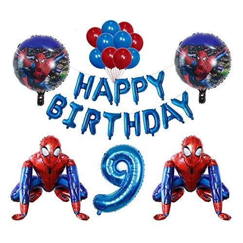JSJJAES Globos 3D Foil Super Hero Hombre Globo Spiderman Fiesta de cumpleaños Decoración para niños Juguete para niños Bebé Shower Globo (Color : 9)