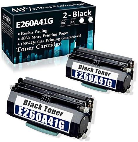 2 Black Remanufactured Cartridge E260 E260A41G Toner Cartridge Compatible for Lexmark E260 E260d product image