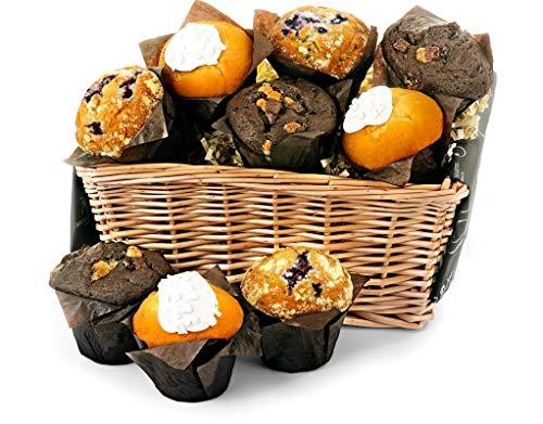 Fresh Muffin Share Basket - Standard - Hand Wrapped Gourmet Food Basket, in Gift Hamper Box