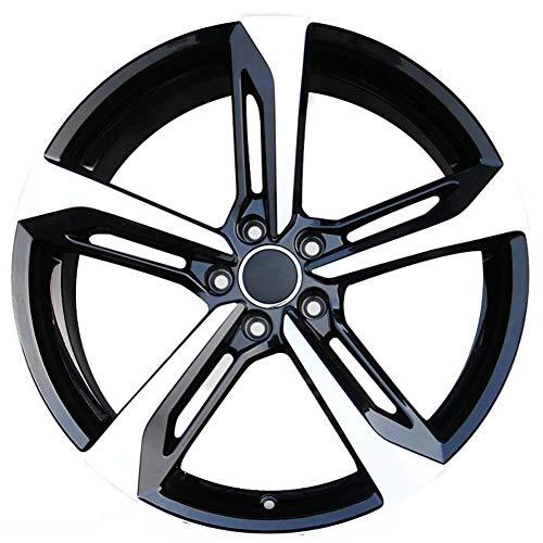 Yx-outdoor Cerchioni in Lega per Auto, 16-20 Pollici Resistente agli attriti, Nessuna interruzione, Adatto per Audi A3 A4l A5 A6l A7 A8 S6 Q5 (1PC),Black,17X7.5J