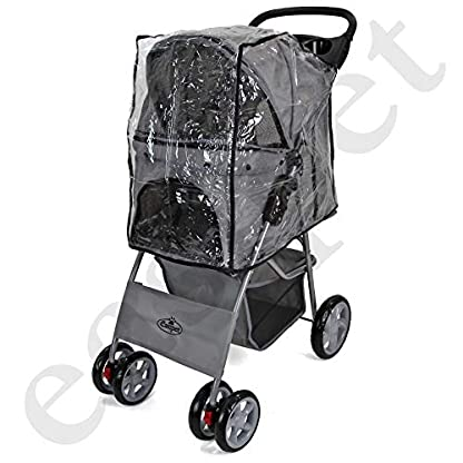 Easipet Rain Cover Pet Stroller 3