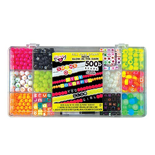 Fashion Angels Fashion Angels Tell Your Story Neon Bead Case 12517 Bracelet Making Kit, Includes 500+ Beads,multi, 7.1 Ounce