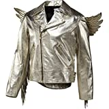 Adidas Men's Jeremy Scott JS Gold Wings Leather Jacket, X29880, Size Large