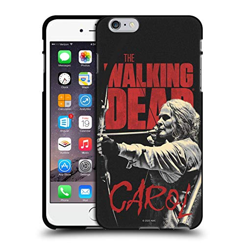 Oficial AMC The Walking Dead Carol Retratos de Personajes de la Temporada Funda de Gel Negro Compatible con Apple iPhone 6 Plus/iPhone 6s Plus