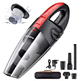 Audew Handheld Vacuums Cordless, Portable Handheld Vacuum Cleaner with Powerful Suction, 120W Rechargeable Car Vacuum Cleaner, Handheld hoover, Lightweight Wet Dry Vacuum for Home, Car and Pet