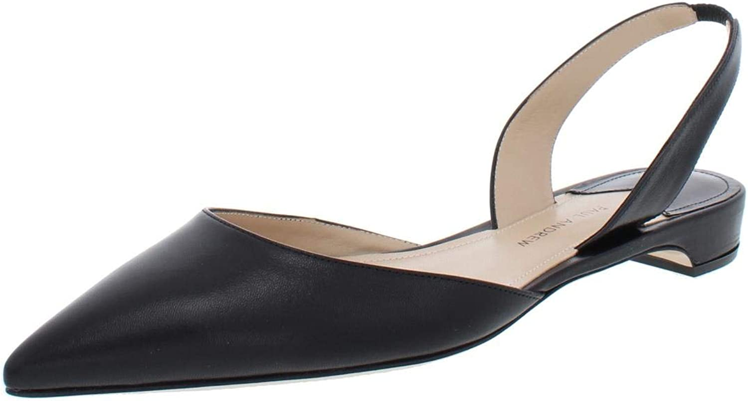 Paul Andrew Womens Rhea15 Solid Slingback Pointy-Toe Flats